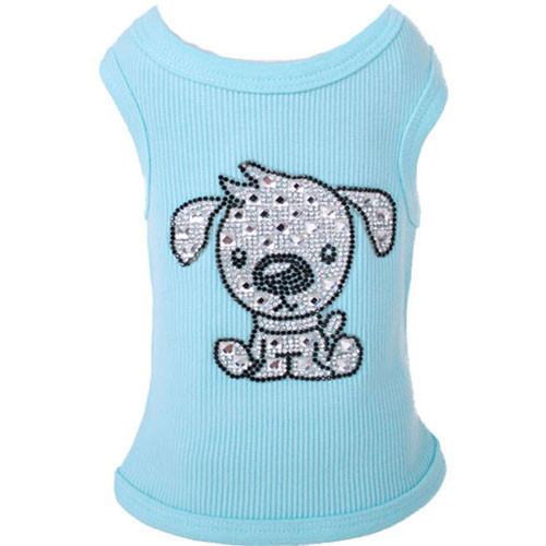 Doggy Love Rhinestone Tank | Aqua