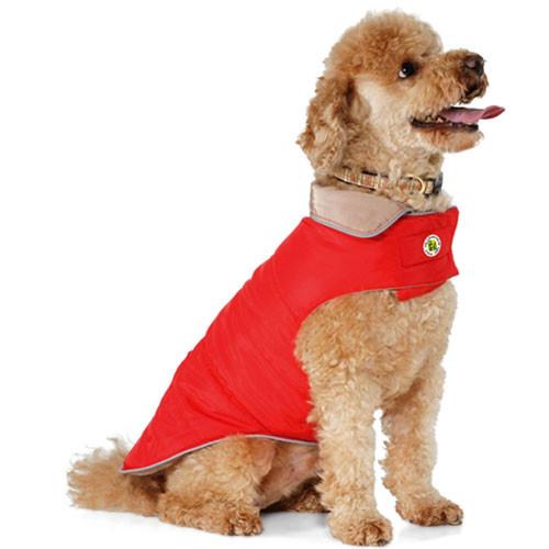 Sport Puffer Dog Coat | Red