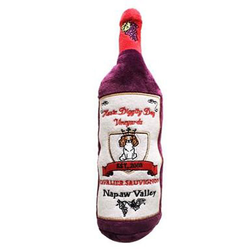 Dog Toy | Cavalier Sauvignon Wine Bottle