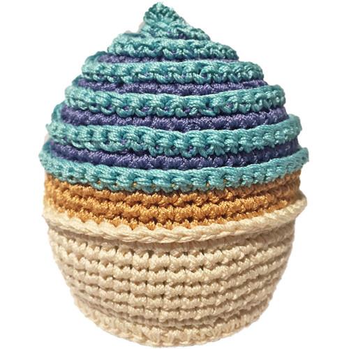 Organic Cotton Dog Toy | Blue Cupcake