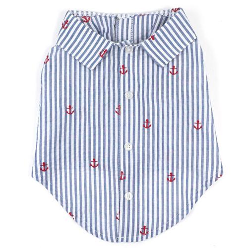 Navy Stripes & Anchor Shirt