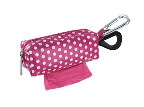 Duffel Dog Waste Bag Holder   Pink Dots