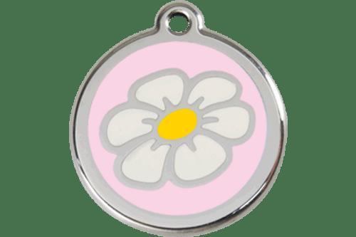 Enamel Daisy ID Tag   10 Colors