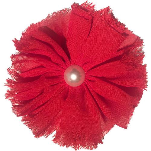 Chiffon & Pearl Collar Bud   Red