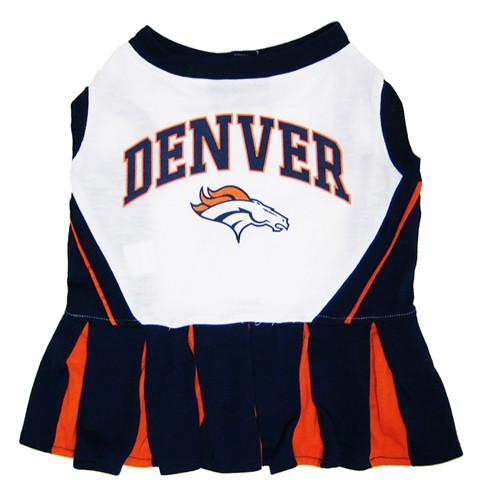 Denver Broncos Dog Cheerleader Dress