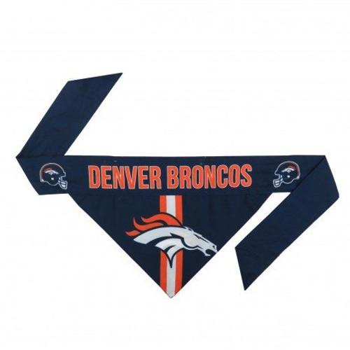 Denver Broncos Tie-On Dog Bandana