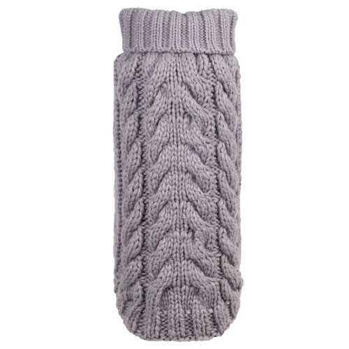 Hand Knit Turtle Neck Dog Sweater | Grey
