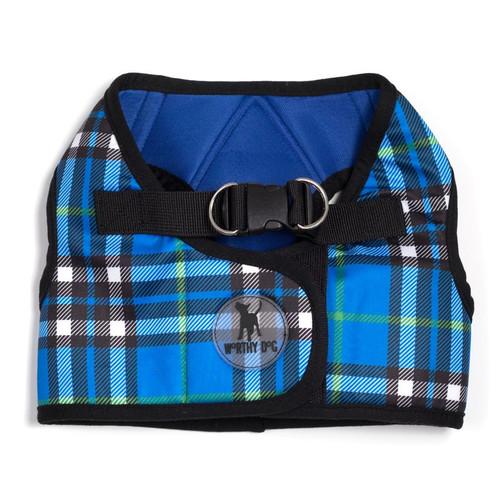 Sidekick Harness   Printed Blue Plaid