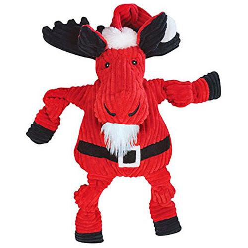 Corduroy Santa Moose Dog Toy