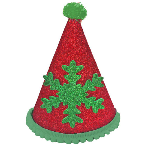Deluxe Snowflake Hat  | Red & Green