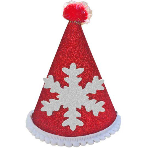 Deluxe Snowflake Hat  | Red & White