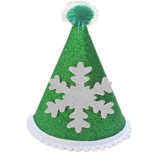 Deluxe Snowflake Hat  | Green & White