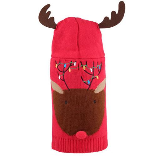 Reindeer Hoodie Dog Sweater