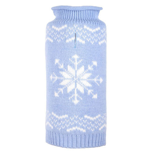Snowflake Icy Blue Dog Sweater