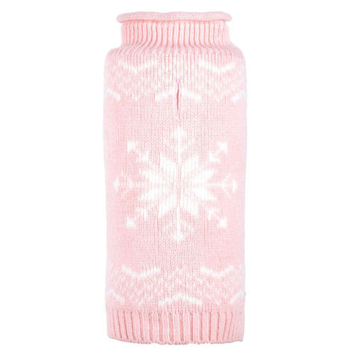 Snowflake Icy Pink Dog Sweater