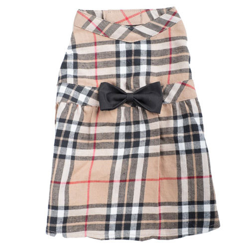 Plaid Dress | Tan