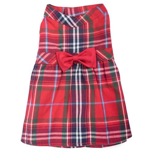 Plaid Dress   Red