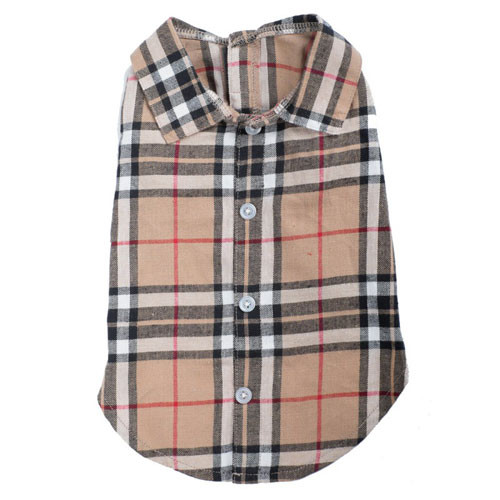 Plaid Shirt | Tan