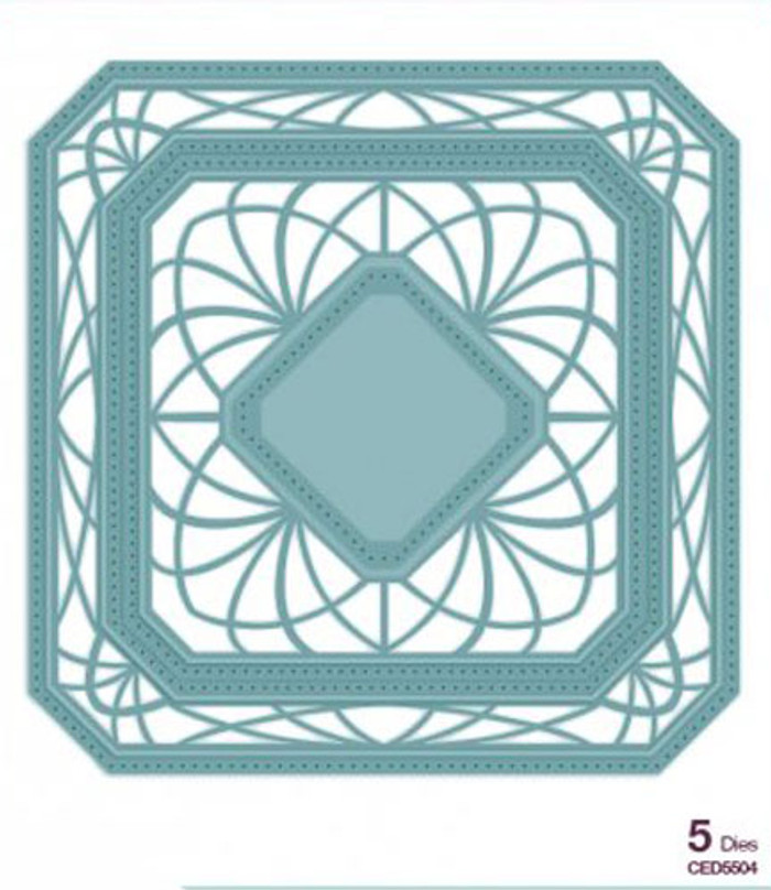 Sue Wilson - The Noble Collection - Ornate Pierced Squares Dies CED5504 - 15% Off