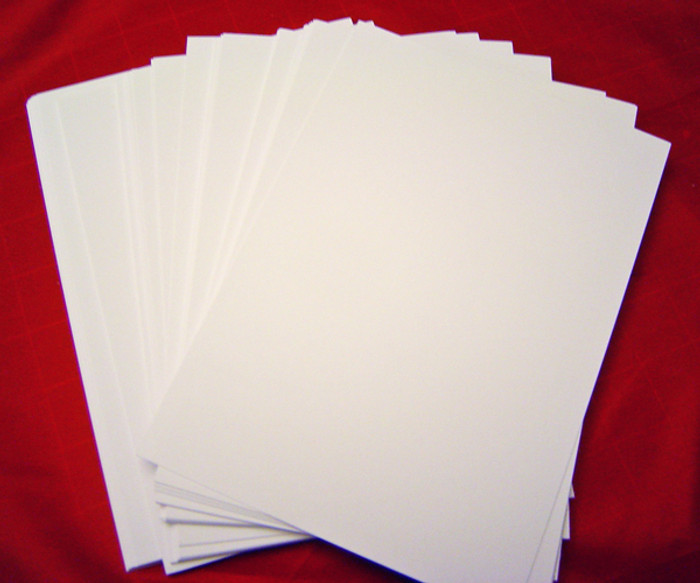 "Card Pack 5"" x 7"" SMOOTH Texture 20 Sheets 250gsm - WHITE"