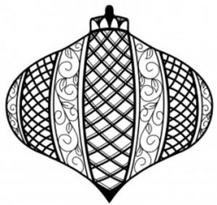 Sue Wilson Stamps To Die For - LATTICE BAUBLE UMS520 - 10% Off FREE POSTAGE Pre-Order