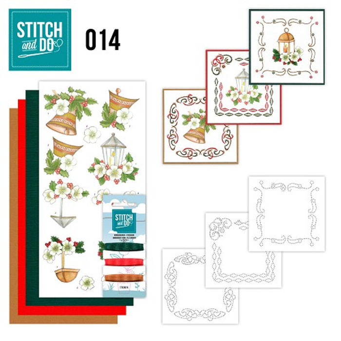 Stitch and Do 14  Card Embroidery Kit - Christmas