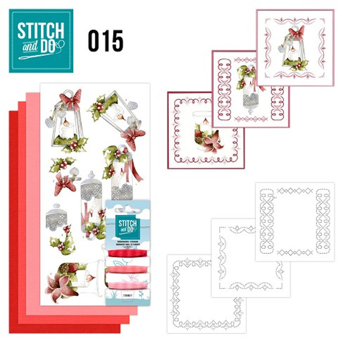 Stitch and Do 15  Card Embroidery Kit - Candles