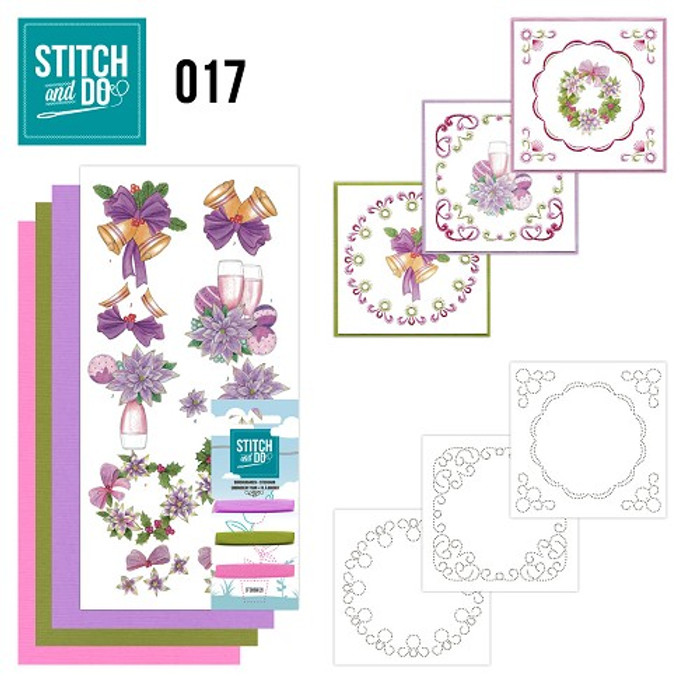 Stitch and Do 17  Card Embroidery Kit - Christmas