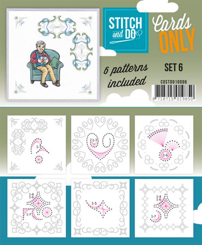 Stitch and Do Card Stitching Cardlayers Only - Set 6