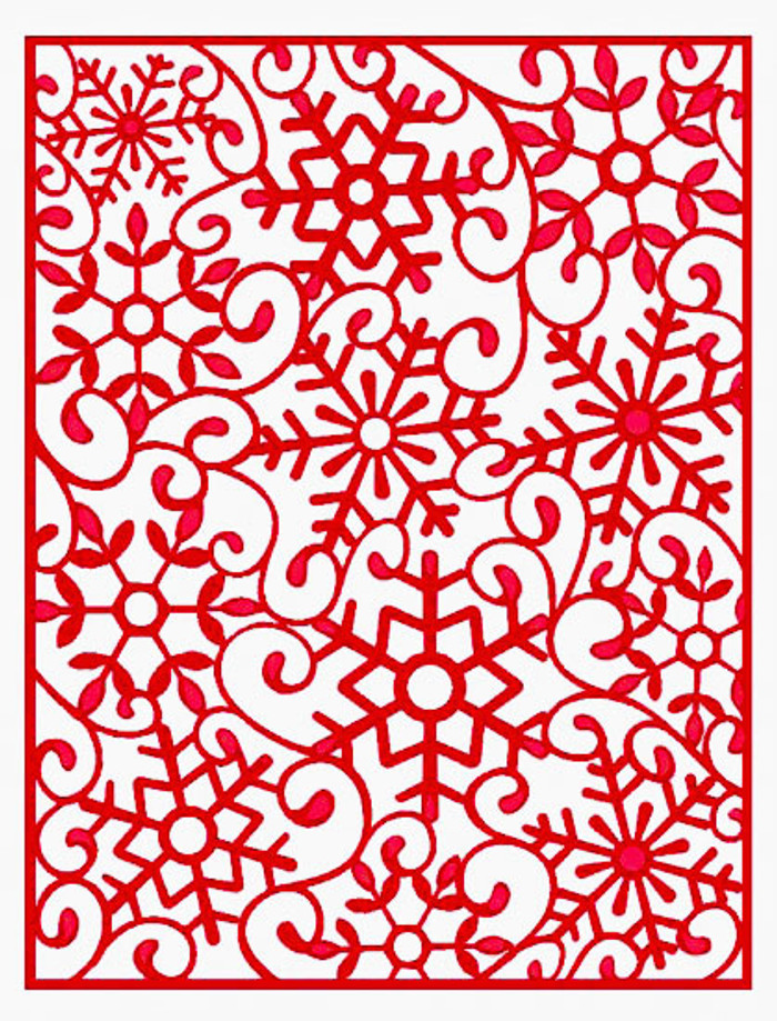 Sue Wilson - The Festive Collection - Frosty Mini Background Die CED3024 - Pre-Order 15% Off