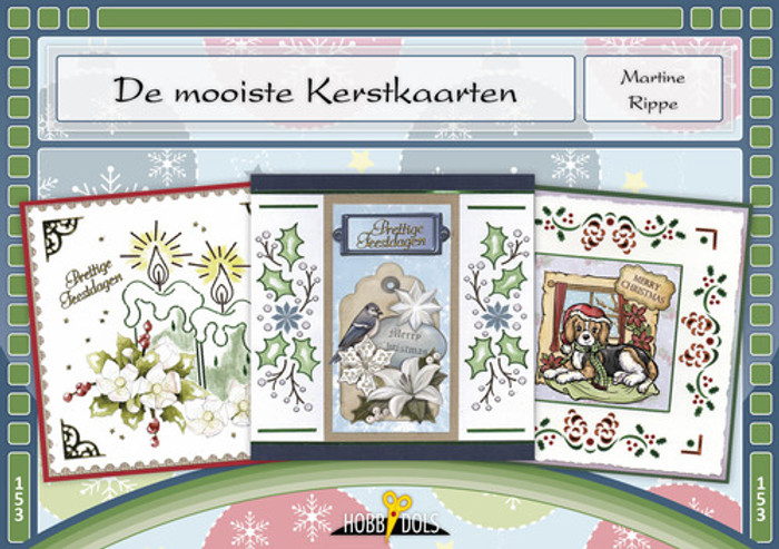 Hobbydols 153 Hobbydots Booklet - De mooiste kerstkaarten (Most Beautiful Christmas) (Dutch Language)