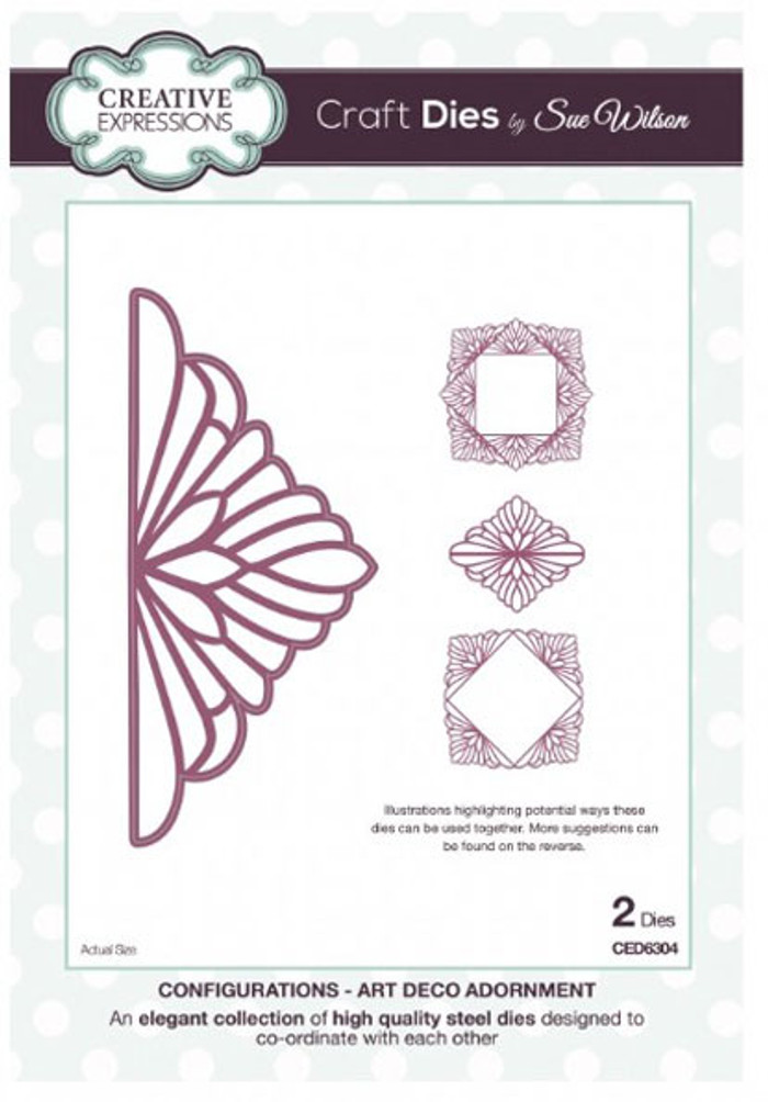 Sue Wilson - Configurations Collection - Art Deco Adornment CED6304 - 15% Off