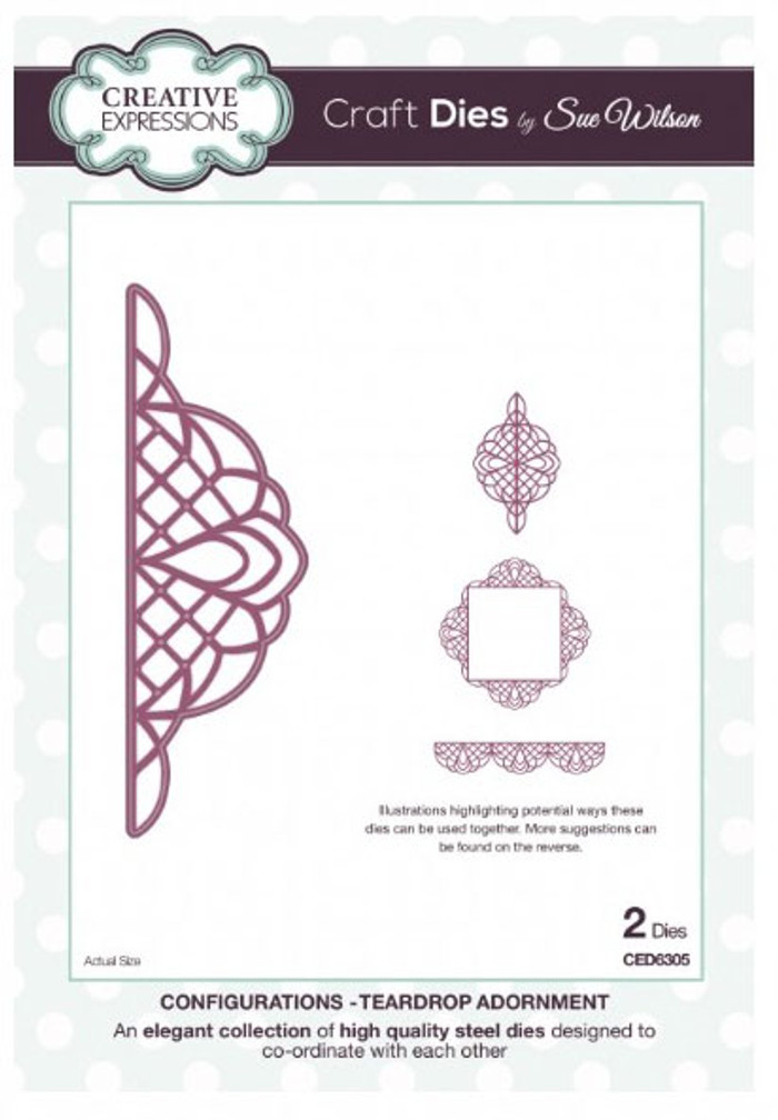 Sue Wilson - Configurations Collection - Teardrop Adornment CED6305 - 15% Off