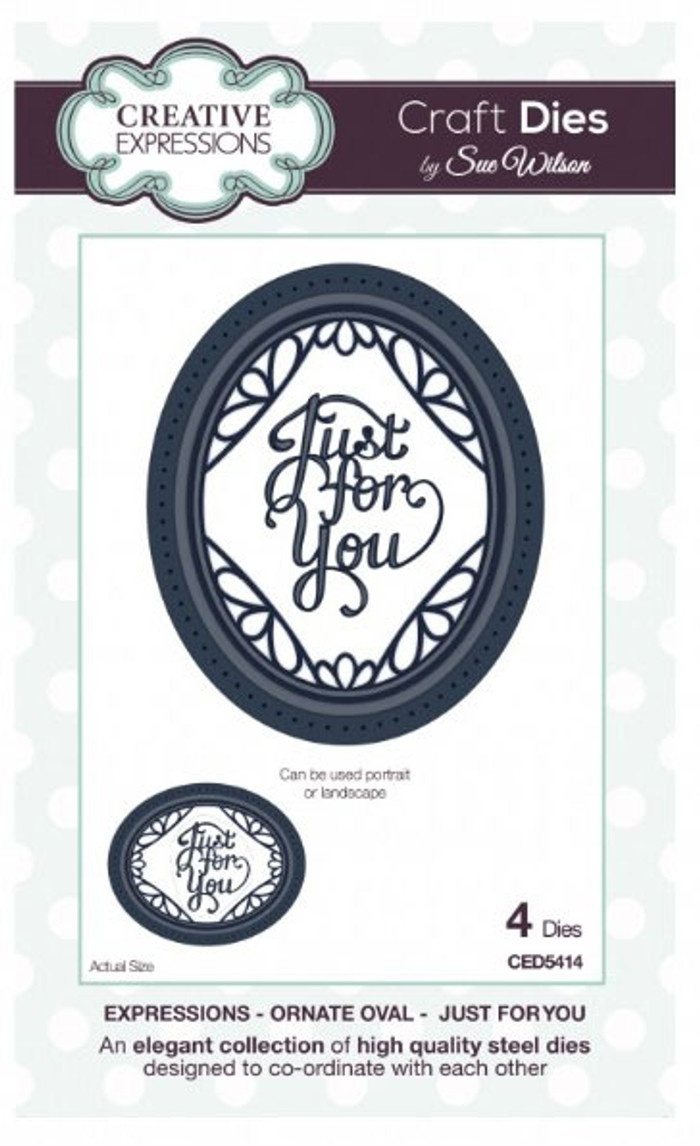 Sue Wilson - Expressions Collection - Ornate Oval - Just For You Die CED5414 - 15% Off