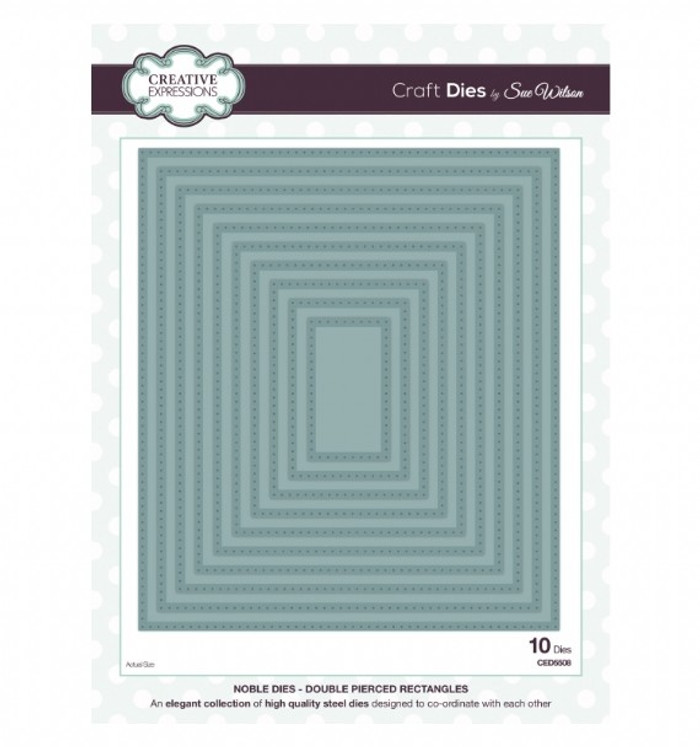 Sue Wilson - Noble Collection - Double Pierced Rectangles Dies CED5508 - 25% Off
