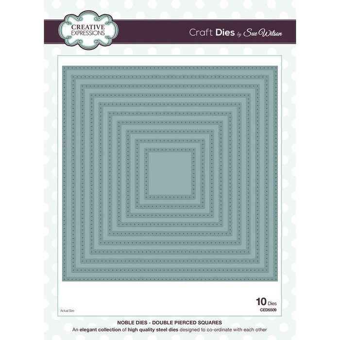 Sue Wilson - Noble Collection - Double Pierced Squares Dies CED5509 - 25% Off