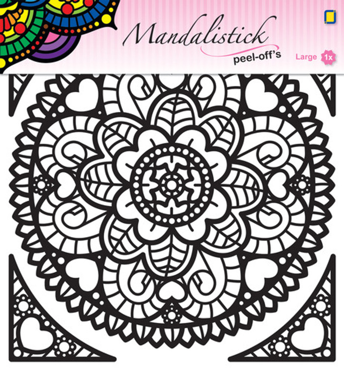 JeJe Peel-Off Sticker  -  Mandala #1  GOLD 190mm  3.9240