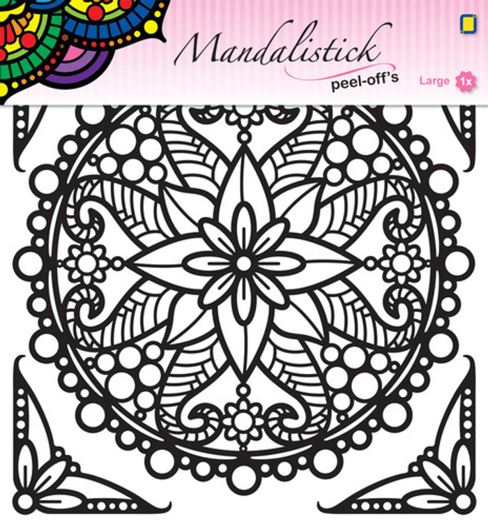 JeJe Peel-Off Sticker  -  Mandala #3 BLACK 190mm  3.9252