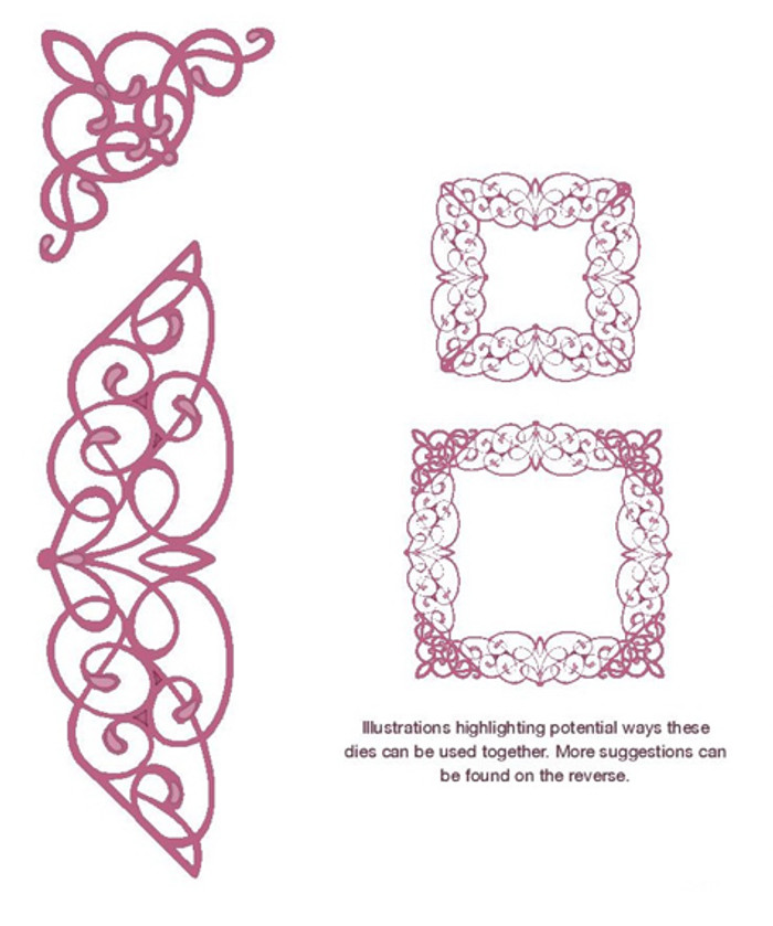 Sue Wilson - Configurations Collection - Swirly Lace Edger Die CED6405 - Pre-Order 15% Off