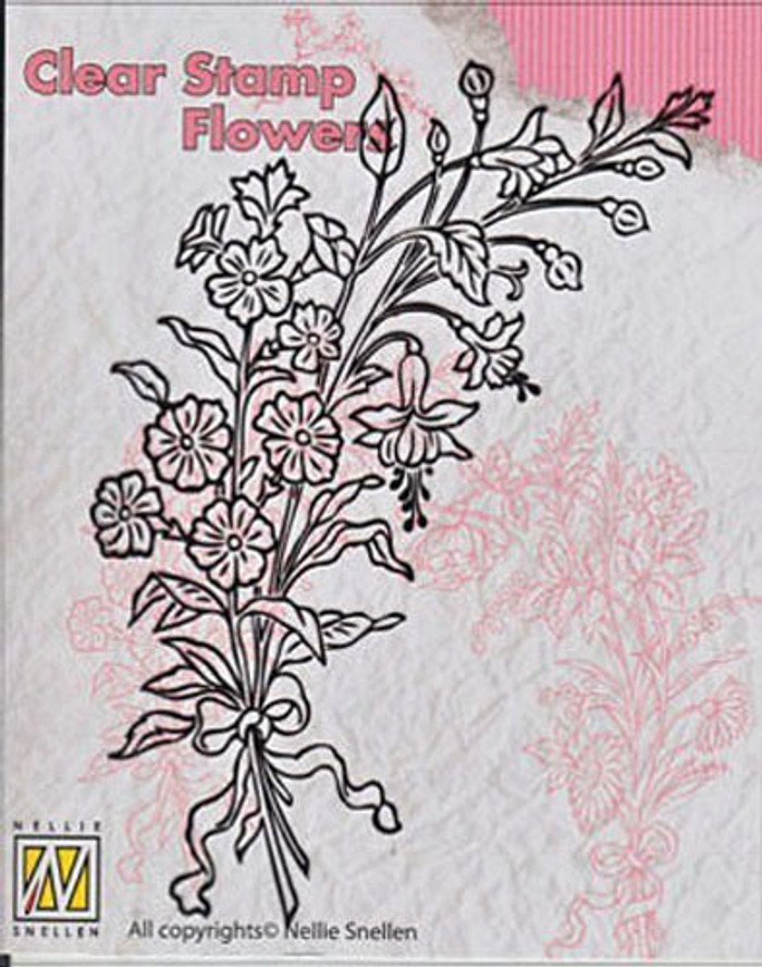 Nellie Snellen Clear Flower Stamp - Bouquet 2 FLO007