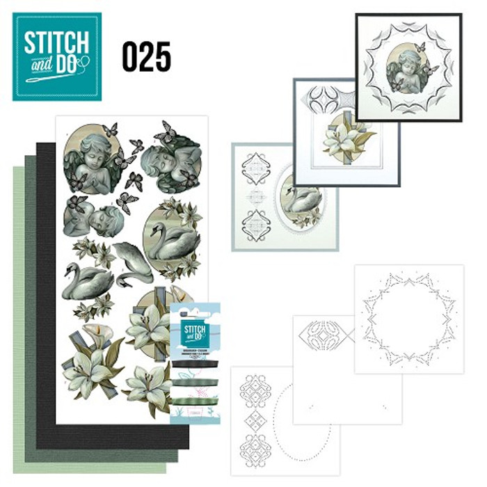 Stitch and Do 25 - Card Embroidery Kit - Condolence