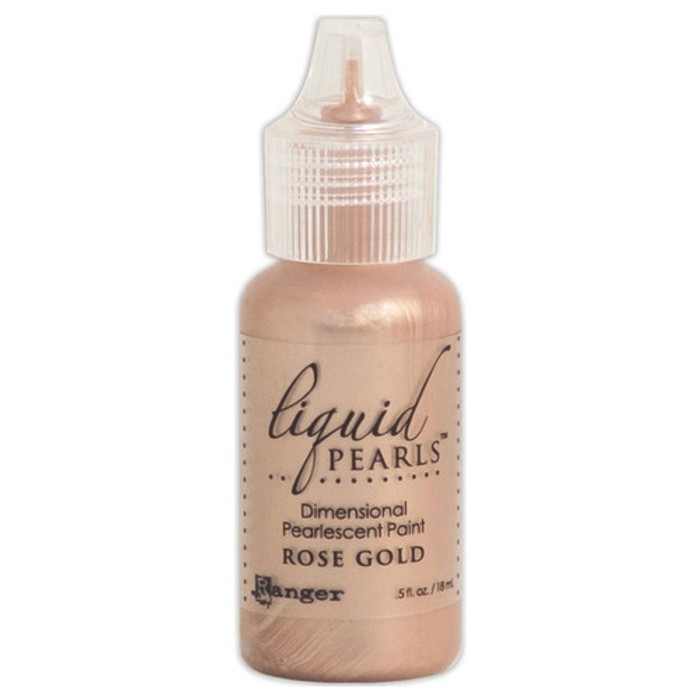 Ranger Liquid Pearls Pearlescent Dimensional Paint - Rose Gold 14.5ml