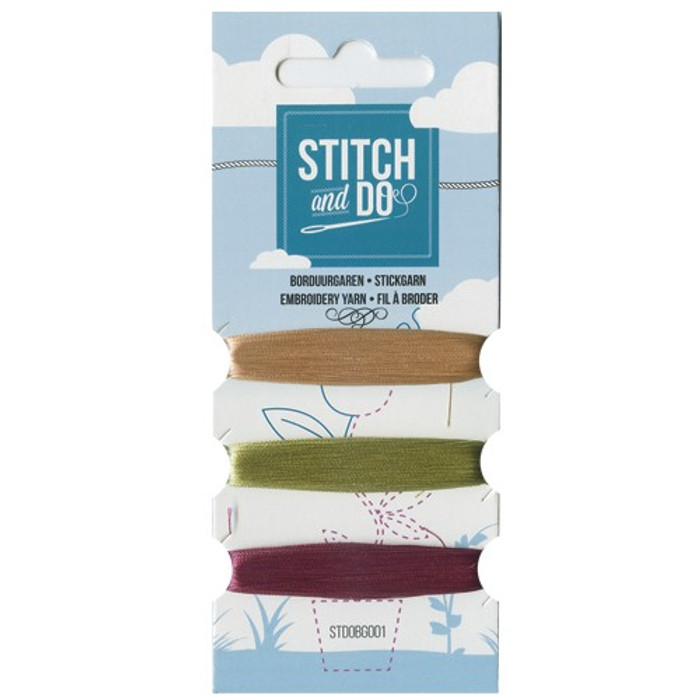 Stitch and Do Card Embroidery Thread Set 001 - 3 x 50m