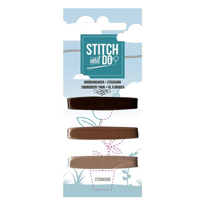 Stitch and Do Card Embroidery Thread Set 006 - 3 x 50m