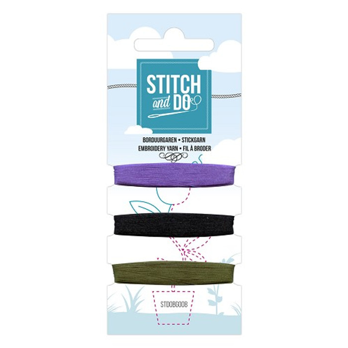 Stitch and Do Card Embroidery Thread Set 009 - 3 x 50m