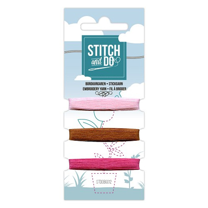 Stitch and Do Card Embroidery Thread Set 12 - 3 x 50m