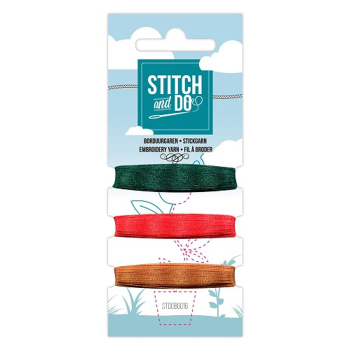 Stitch and Do Card Embroidery Thread Set 16 - 3 x 50m
