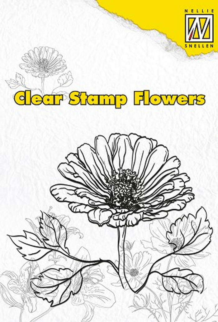 Nellie Snellen Clear Flower Stamp - Marguerite  FLO002