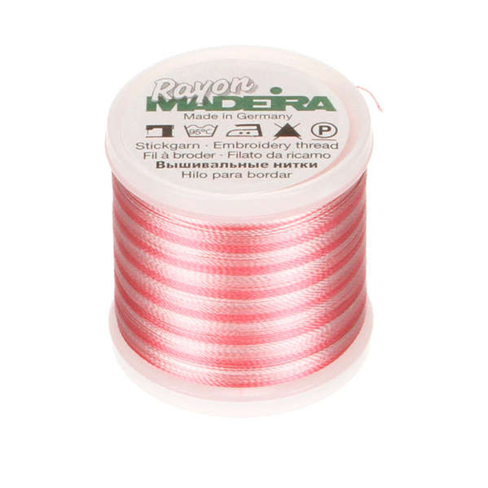 Madeira Rayon Embroidery Thread 40wt 200m - Pink Ombre