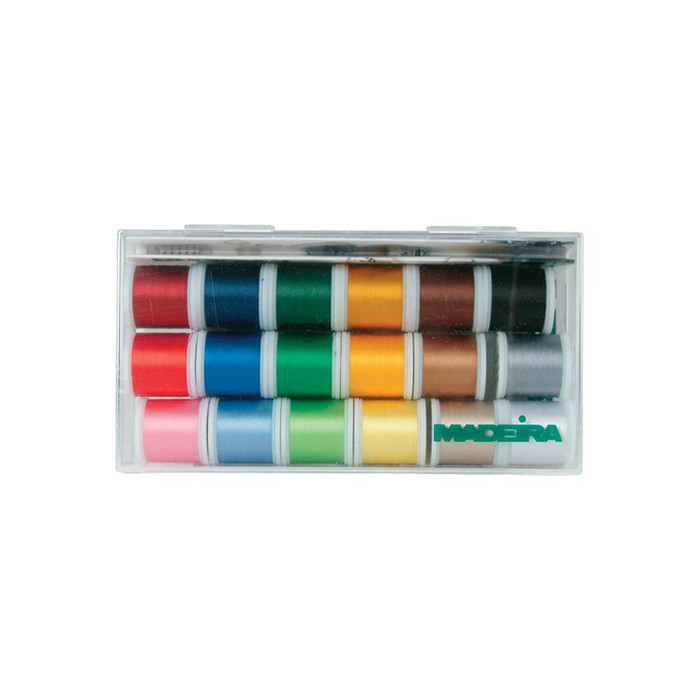 Madeira Rayon Embroidery Thread Sampler 18 x 400m Spools